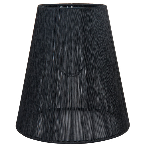 Abajur veioza textil negru Ø 14x15 cm E14