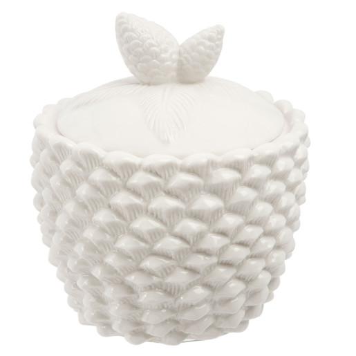 Borcan portelan decorativ condimente alb Conifer Ø 14*16 cm - 0.85 L