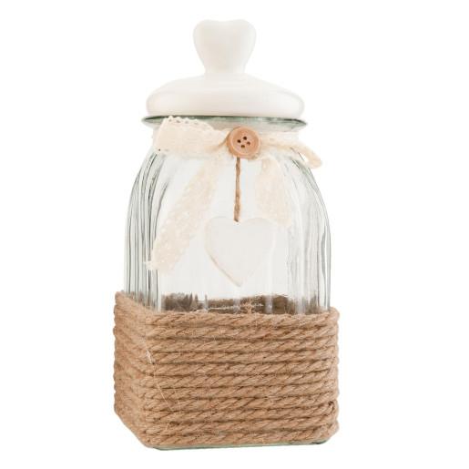 Borcan condimente sticla Rustique 12*12*24 cm - 1,2 L