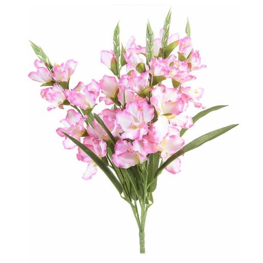 Buchet de flori artificiale gladiole roz 58 H
