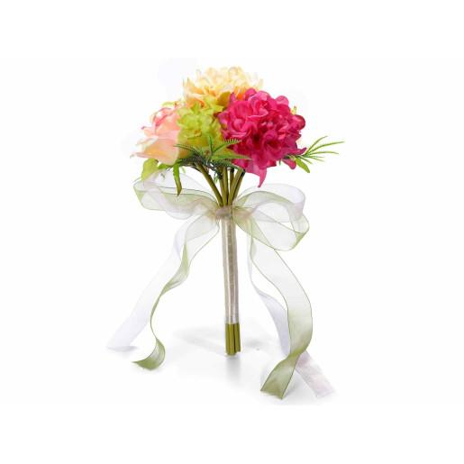 Buchet flori artificiale hortensii multicolor cm 10 x 28,5 H