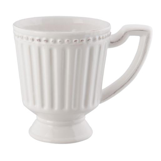 Cana ceramica alba Elegance 14*10*12 cm - 0.3 L