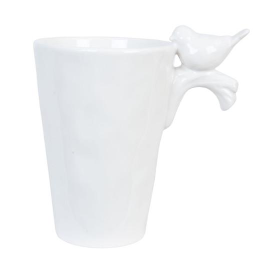 Cana ceramica alba Bird 13*9*12 cm - 0,35 L