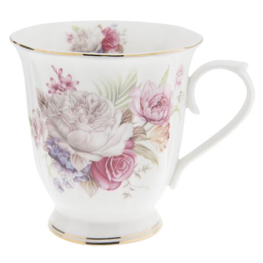 Cana ceramica Flowers Pink  Ø 12*9*10 cm