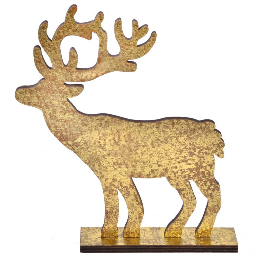 Decoratiune Cerb lemn 18 cm x 12 cm