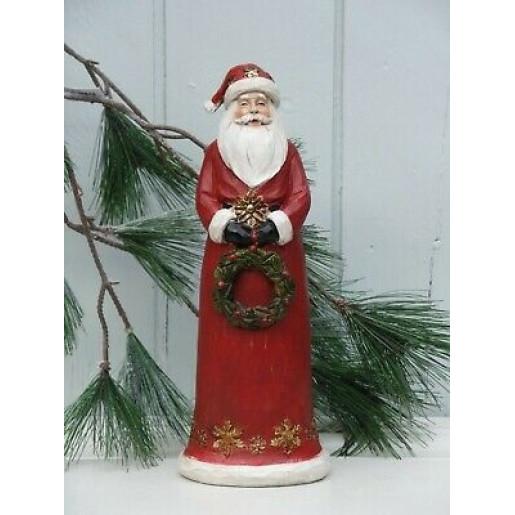 Figurina Mos Craciun polirasina rosu 12x10x30 cm