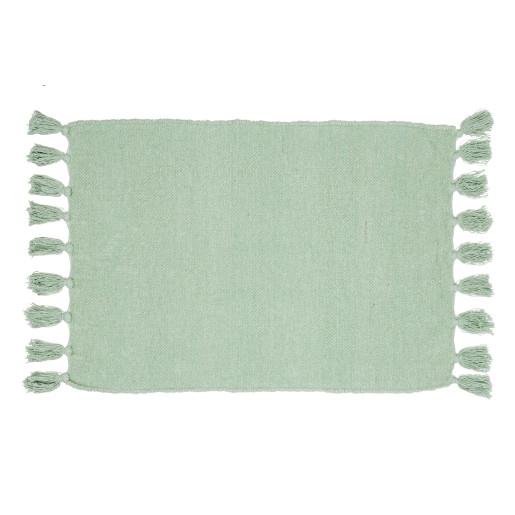 Covoras verde textil pentru baie Fortaleza 60cmx90h
