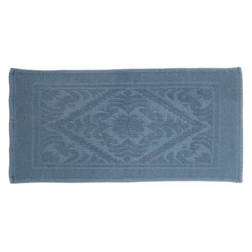 Covoras albastru textil pentru baie Salvador 60x120h