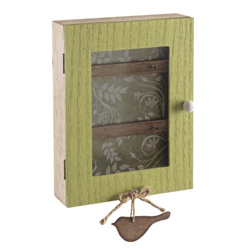 Cutie suspendabila pentru chei bej verde 18x6x28h