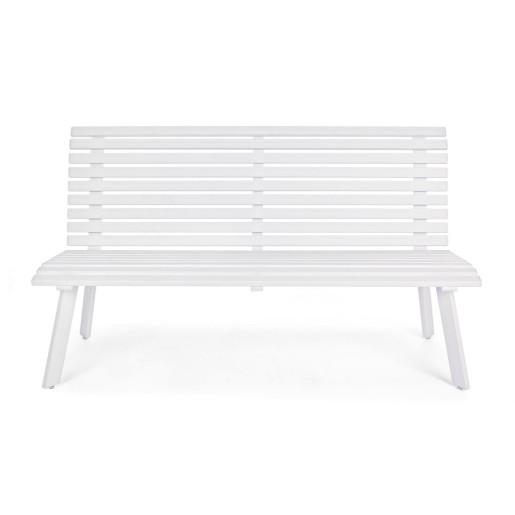 Bancuta aluminium alb Maili 150 cm x 63.5 cm x 89 h x 43 h1