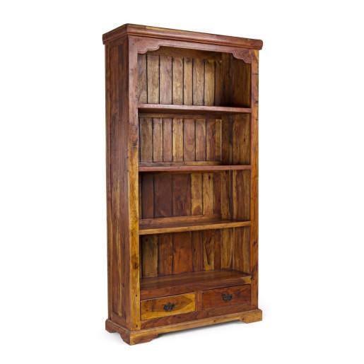 Biblioteca din lemn maro Chateaux 100 cm x 35 cm x 185 h