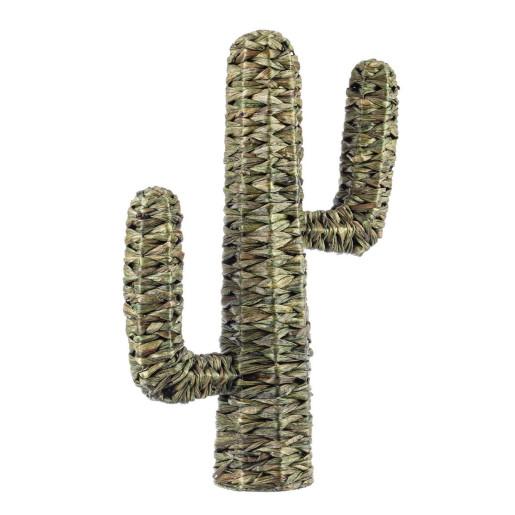 Decoratiune din iarba de mare verde model Cactus 73 h