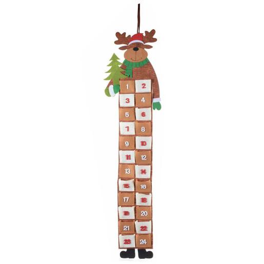 Calendar Advent Ren suspendabil textil cm 25 x 90 H