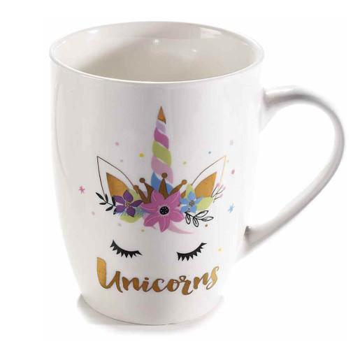Cana portelan model Unicorns Ø 8 cm x 11 H  350 ml