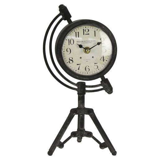 Ceas de masa metal maro model trepied retro 29x13x15 cm