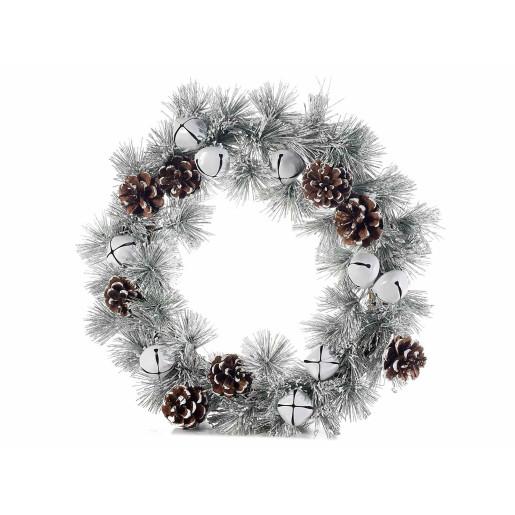 Coronita Craciun suspendabila brad artificial conuri clopotei Ø 35 cm