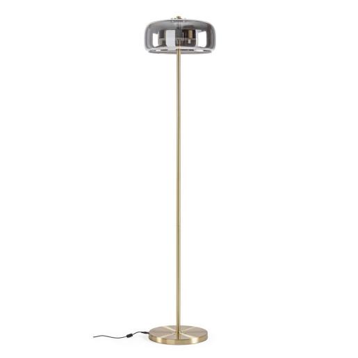 Lampadar fier auriu cu abajur sticla Reflexo Ø 38 cm x 152 h