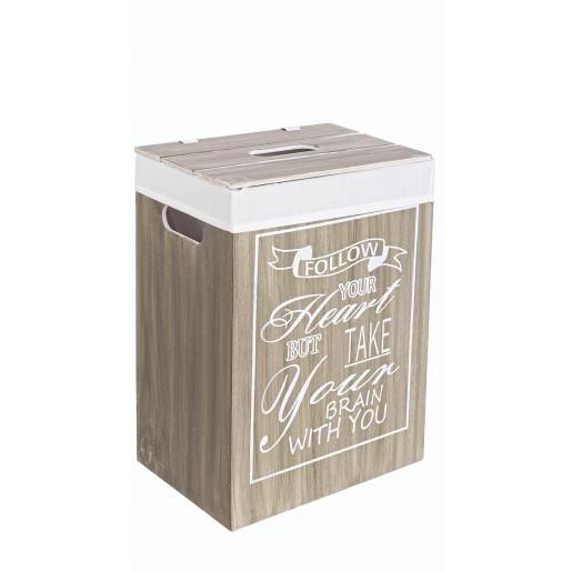 Cos rufe natur alb captusit din lemn Chantal 34 cm x 24 cm x  47h