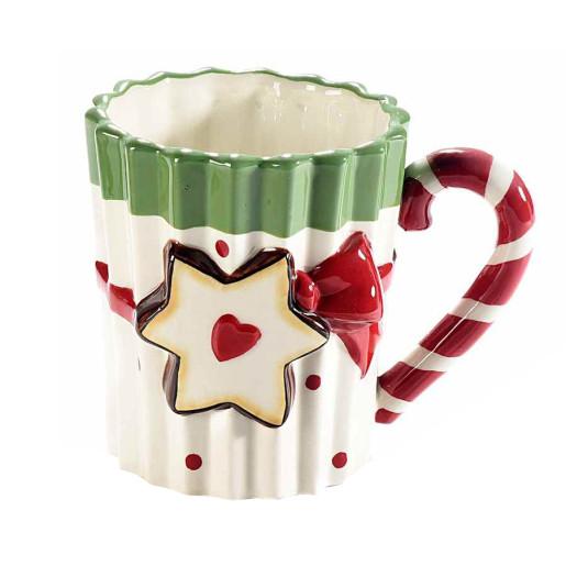 Cana ceramica model Stea Ø 9 cm x 10 H 330 ml