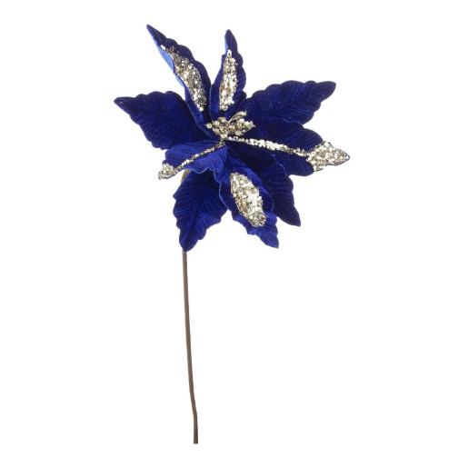 Craciunita artificiala velur albastru 29x50 cm