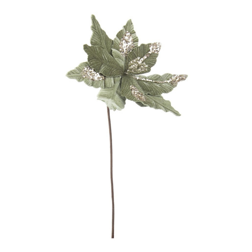Craciunita artificiala velur verde 29x50 cm