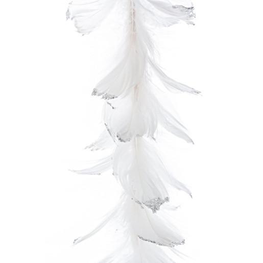 Ghirlanda din pene albe Piume 150 cm