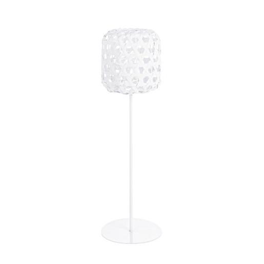 Felinar metal rattan alb Shade 18 cm x 57 h