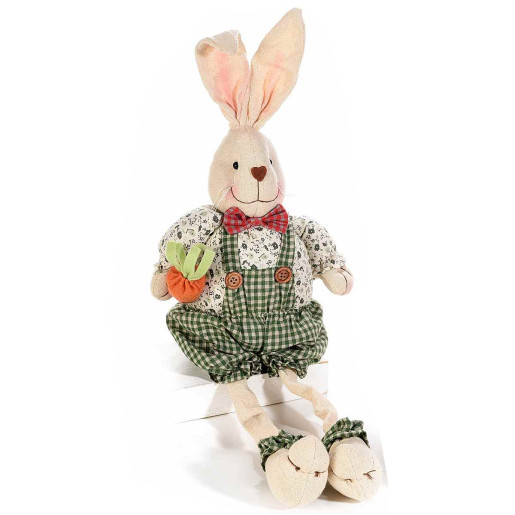 Figurina Iepuras Paste Boy textil 16 cm x 32 h