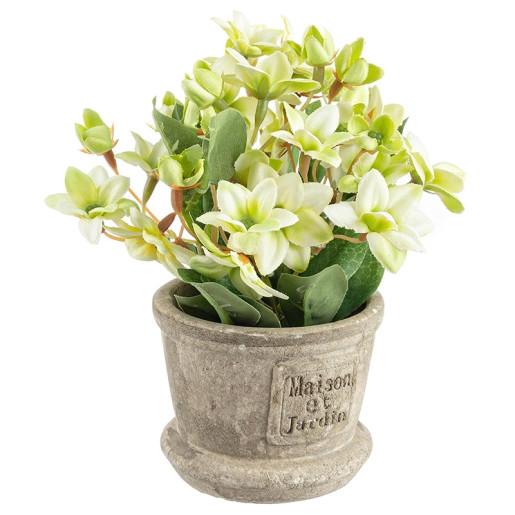 Flori artificiale albe in ghiveci Maison Ø8x16h