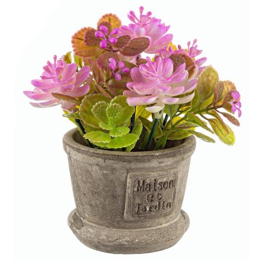 Flori artificiale roz intens in ghiveci Maison Ø8x15h