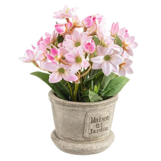 Flori artificiale roz in ghiveci Maison Ø8x16h