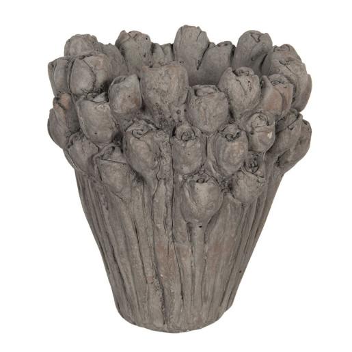 Ghiveci din ceramica gri Roses Ø 23 cm x 25 h