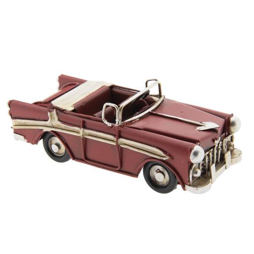 Macheta masina retro metal rosie 11 cm x 5 cm x 4 cm
