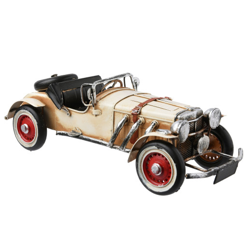 Macheta masina retro metal crem 28x11x10 cm