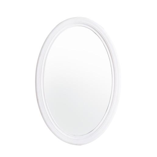 Oglinda decorativa perete lemn alb Daisy 48 cm x 70h