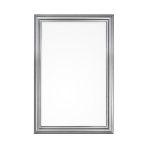 Oglinda decorativa perete cu rama argintie Sanzio 60 cm X 90H