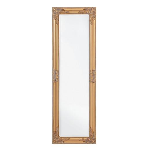 Oglinda decorativa perete cu rama auriu antic Miro 42 cm X 132 H