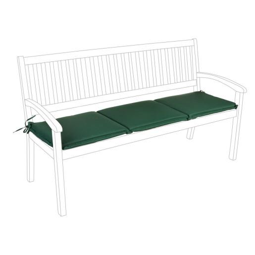 Perna bancuta 3 locuri din textil verde Nat 153 cm x 48 cm x 3 h