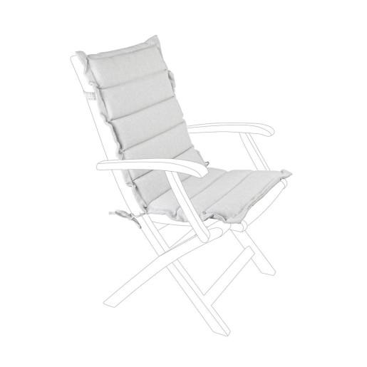Perna scaun gradina din textil gri Paddet 45 cm x 95 cm x 4 h