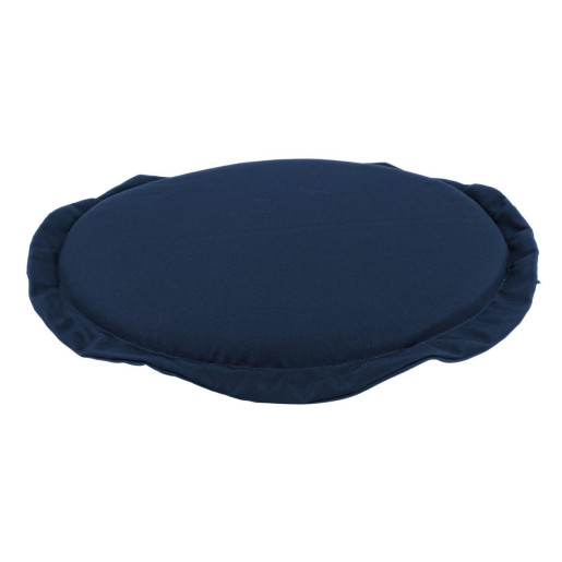 Perna rotunda scaun din textil albastru Poly Ø 42 cm x 3 h
