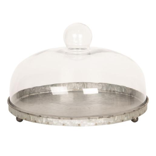 Platou deserturi aperitive cu cupola sticla Ø 32 cm x 26 h