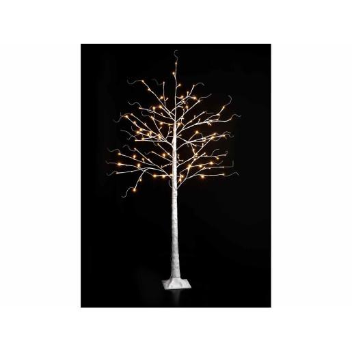 Copac decorativ alb cu led Ø 120 cm x 180 H