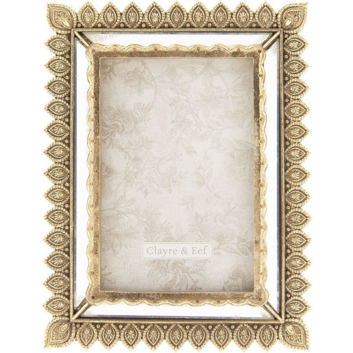 Rama foto de masa polirasina auriu vintage 16 cm x 21 cm