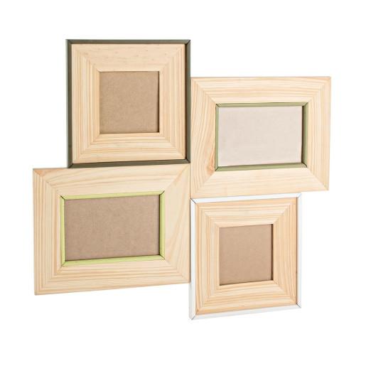 Rama foto de perete lemn natur 47 cm x 42 h