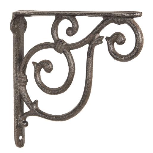 Suport pentru polita fier forjat maro 20 cm x 19 cm x 4 cm