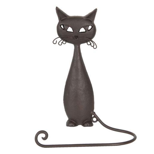 Suport fier forjat maro pentru prosop model Pisica 19 cm x 9 cm x 28 cm