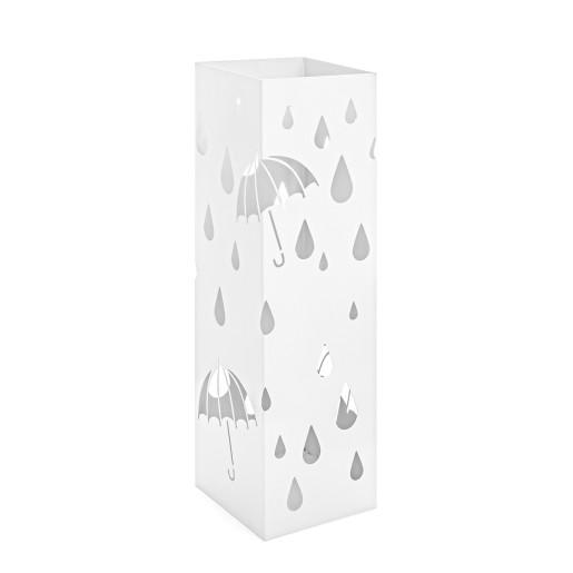 Suport umbrele metal alb 18 cm x 18 cm x 49 h
