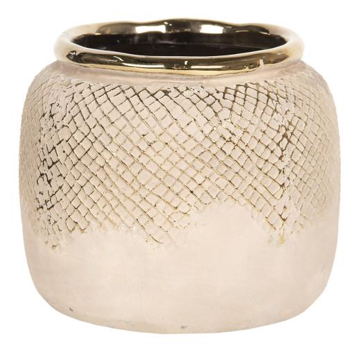 Vaza decorativa ceramica aurie Ø 15 cm x 13 cm