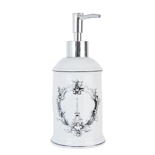 Dispenser ceramica pentru sapun Tour Eiffel Ø 8x19 cm 0,3 L