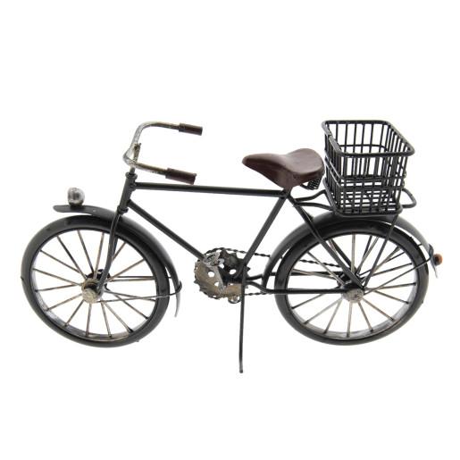 Macheta bicicleta retro metal neagra 31x10x16 cm